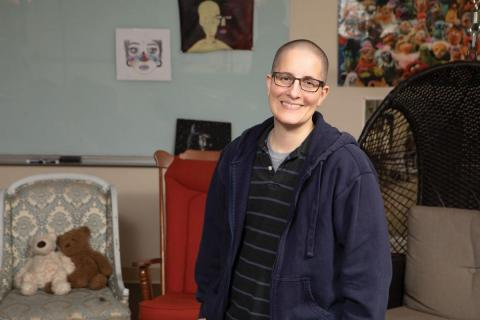 Kelly Holstine has left her job as a Shakopee teacher to become director of educational equity at OutFront Minnesota, an LGBTQ advocacy group. Photo by Sarah Whiting.