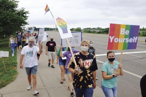 Protestors against conversion therapy