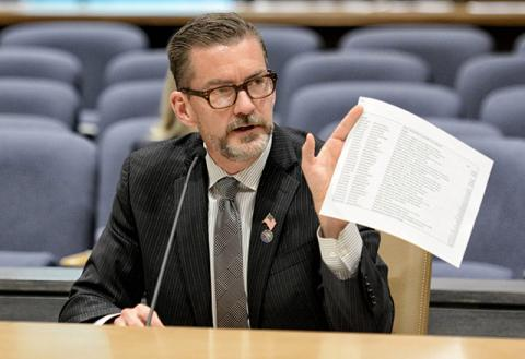 A photo of Minnesota Senator Scott Dibble