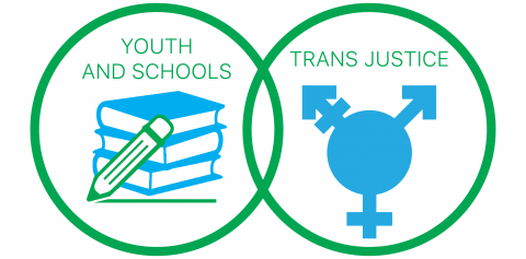 Youth and Schools logo with Trans Justice logo