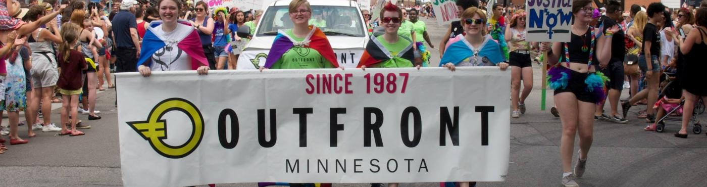 OutFront Volunteers in the Pride Parade