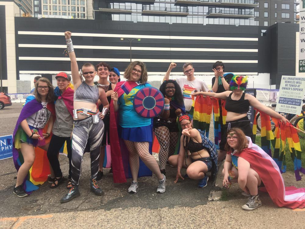 Photo of Youth Leadership Council at Pride