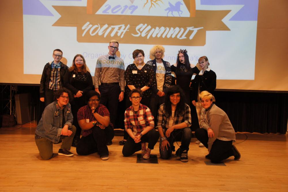 Photo of Youth Leadership Council at Youth Summit